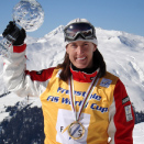 On top of the World after winning my 5th World Title in Davos, Switzerland